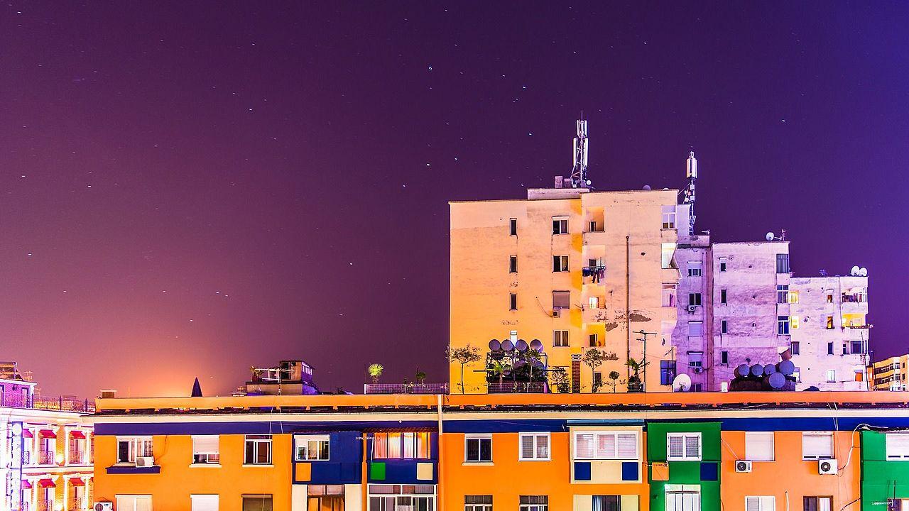 Tirana at nigth